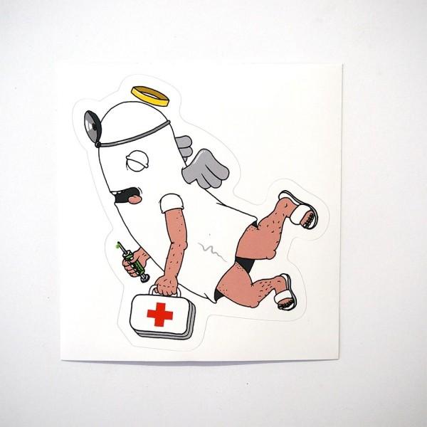 "Späm: ""Ghost"" Sticker - Humanoids Series"