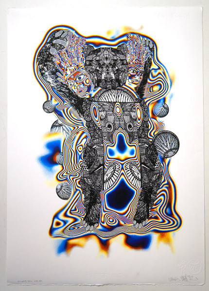 SNYDERxDARBOTZ: Co.Hesion - Hand pulled silk screen print - salzigberlin
