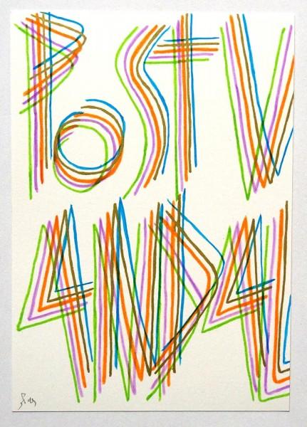 """SP 38: """"Postvandal"""" - Original on Paper, signed, 2019 - SALZIG Berlin"""