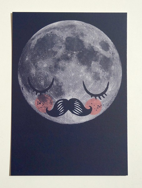 """Yackfou: """"Für Neil"""" - Violett - Postkarte A6"""