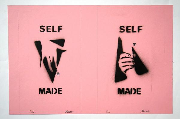 "Ostap: ""Selfmade - 2 in 1 - Rosa"" - Handmade Stencil - SALZIG Berlin"