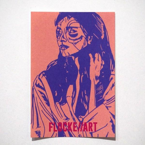 """Flocke//Art: """"Conta - Sticker 1"""" - SALZIG Berlin, Streetart Galerie Friedrichshain"""