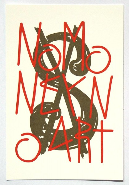 "SP 38: ""No Money No Art"" - Paper Postcard 2019"