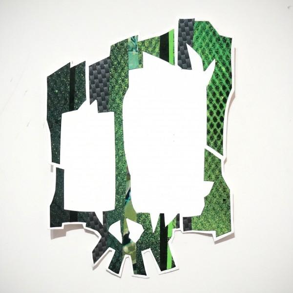 Wudywood: Green Skull - Handmade Sticker