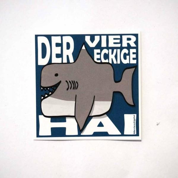 Der viereckige Hai - 6 x 6 cm  - Sticker   - Aquarium: Berlin  -SALZIG Berlin
