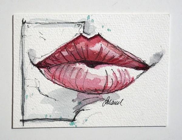 "Susanne Wilke: ""Kiss the world, it needs it!"" - Pauline - Aquarell"
