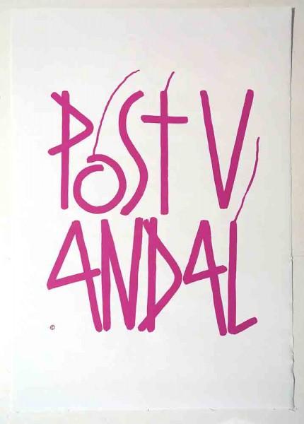 "SP 38: ""Postvandal"" - Sticker  - Screen Print on Sticker"