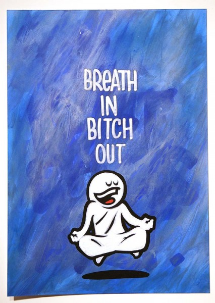 "Mein lieber Prost: ""Breath In Bitch Out""  - buy at SALZIGBerlin"