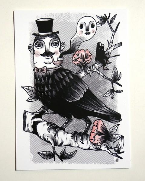"Yackfou: ""Corbus Gentleman"" - Postkarte A6"