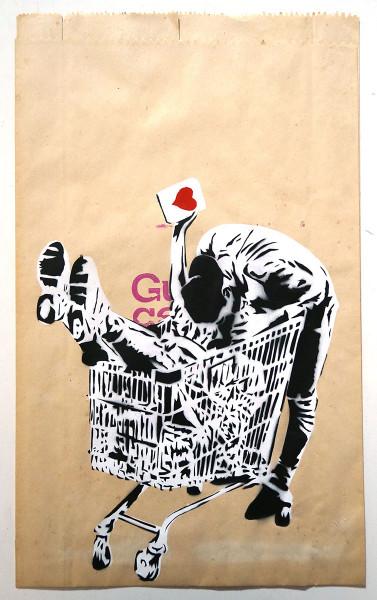 """Lacuna: """"Liebe geht durch den Einkaufswagen"""" - street art - SALZIG Berlin"""
