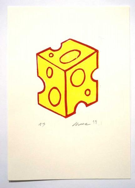 """Cheez : """"Käse"""" - 21 x 29,5 cm - 1/3 limited edition - erhältlich bei SALZIG Berlin Deiner Streetart Galerie"""