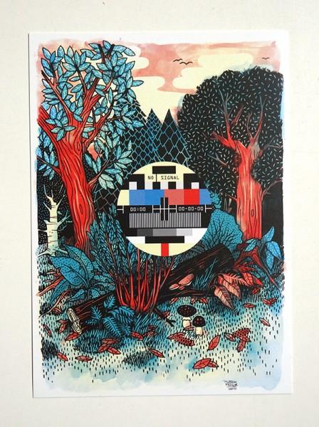 "Yackfou: ""Forest"" - Postkarte A6"