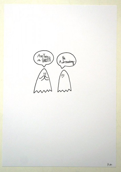 "Rabea Senftenberg: ""Are you a Ghost?""  - Marker and fun on paper, a piece of Berlin"