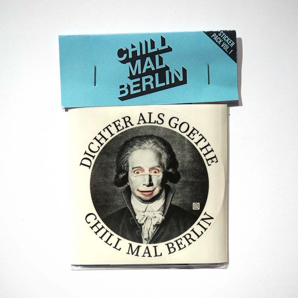 "Chill mal Berlin: ""Stickerpack Blue"" - SALZIG Berlin"