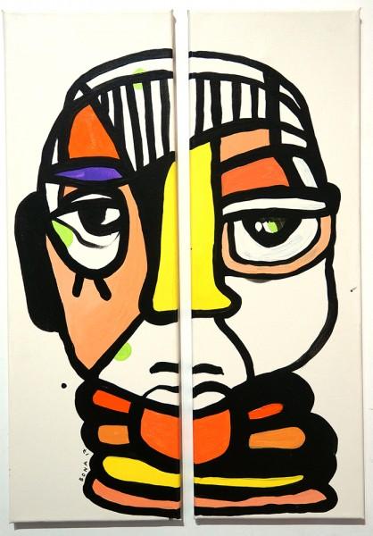 "Bona Berlin: ""Double Face I""  - signed, 2017 - salzigberlin"